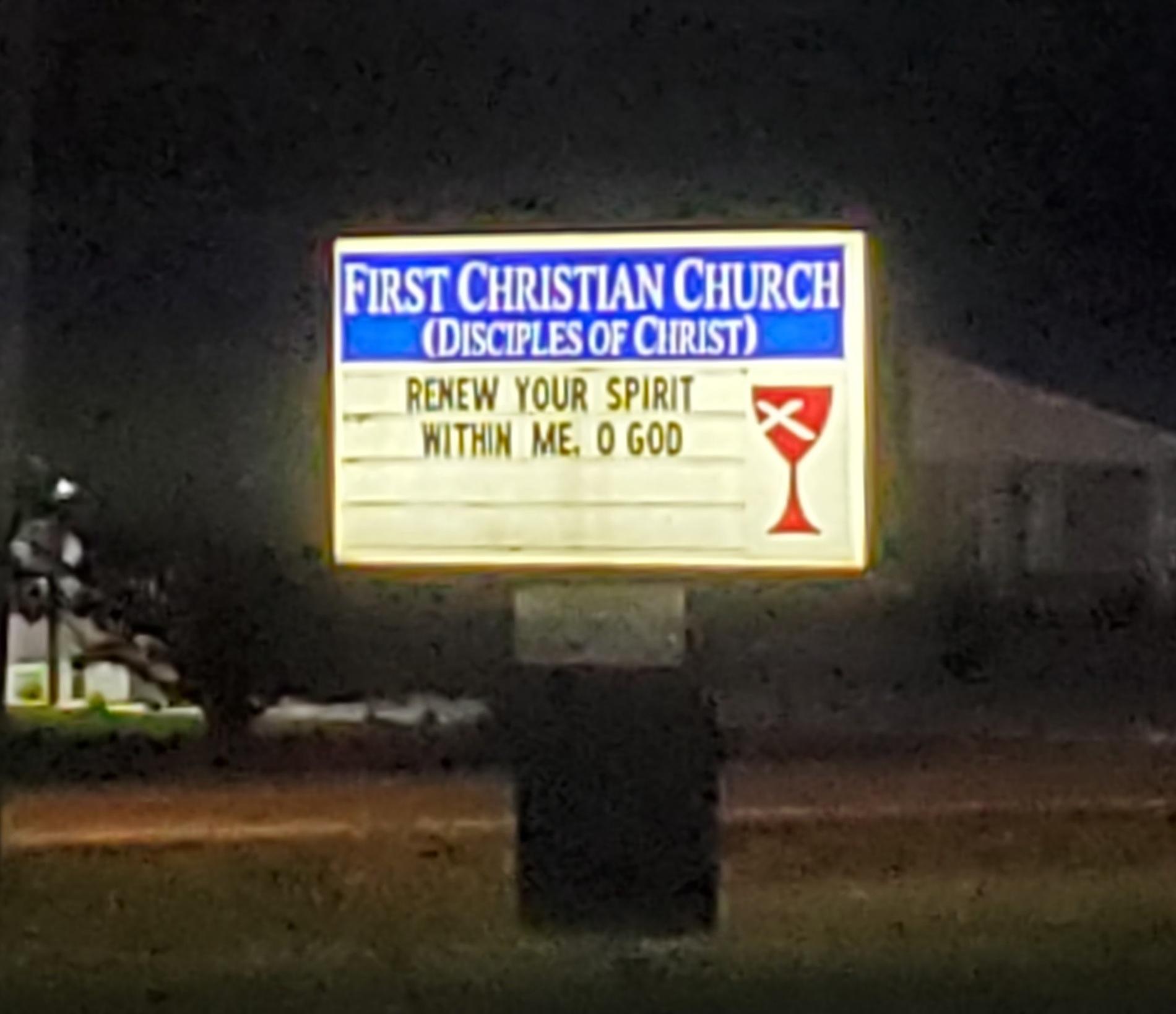 Lighted FCC sign